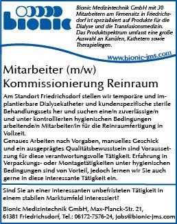 Stellenanzeige_Kommissionierung_Reinraum